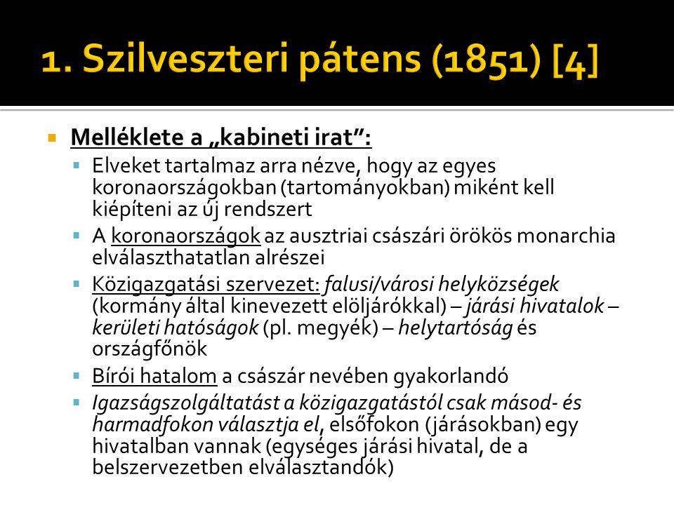 1. Szilveszteri pátens (1851) [4]